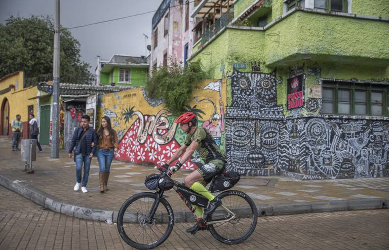 German athlete Guido Kunze during a trip around Colombia.