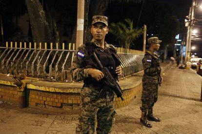 Troops guard Congress Tuesday night in Tegucigalpa