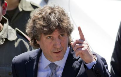 Argentina's Vice President Amado Boudou attends a presentation of new police cars in Buenos Aires on Monday.