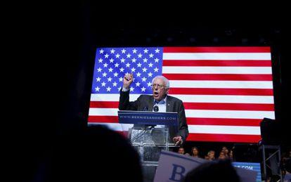 Bernie Sanders in Los Angeles on Wednesday.