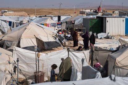 The Al Hol camp in Syria.