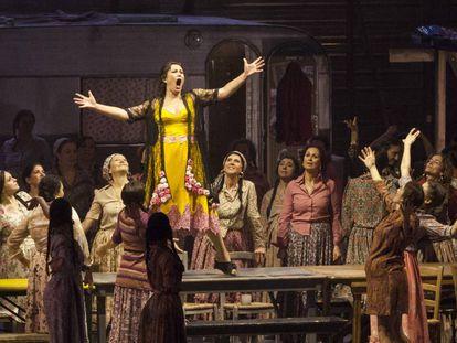 A scene from 'Carmen' at the Firenze Opera.