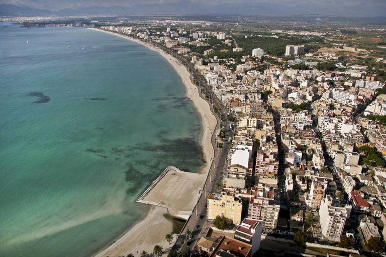Aerial view of Palma de Mallorca.