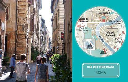 The Via dei Coronari in Rome.