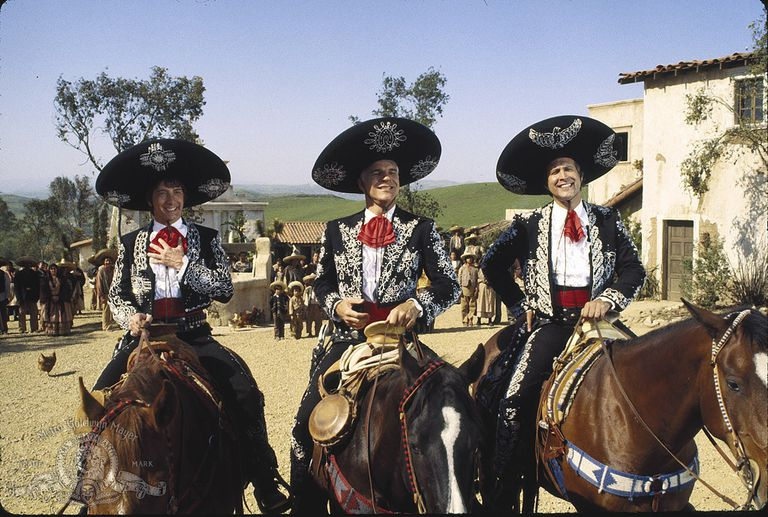 A scene from the 1980s comedy 'The Three Amigos.'