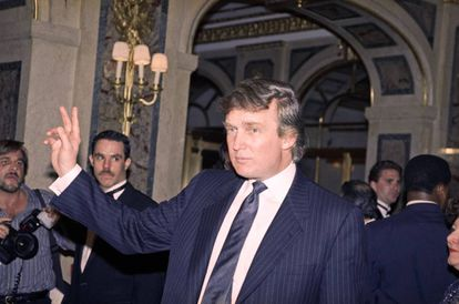 Donald Trump in 1991, a time when he posed as his own spokesman.
