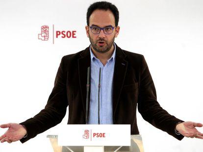 PSOE spokesperson Antonio Hernando.