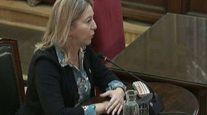 Former Catalan government official Neus Munté in court on Tuesday.