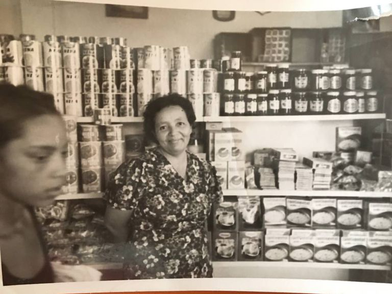Blanca in the days she ran a supermarket in Venezuela.