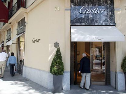 Jewelers Cartier on Madrid's upscale Serrano street.