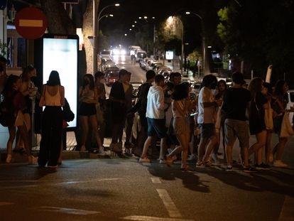 Students partying in Mallorca, where a coronavirus outbreak began.