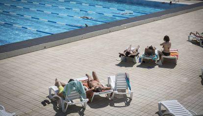 Picornell swimming center in Barcelona.