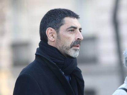 Trapero llega a la Audiencia Nacional para declarar por el 'procés'.