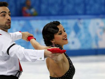 Sara Hurtado and Adrià Diaz at Sochi 2014.