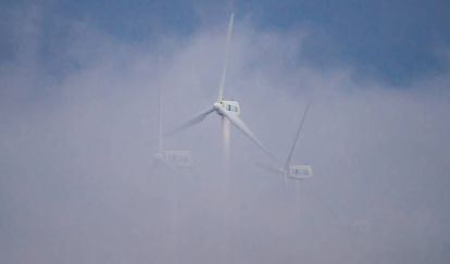 A wind farm in Muras (Lugo).