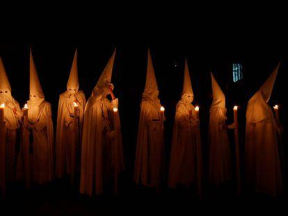 The Seville brotherhood of La Paz on Palm Sunday.