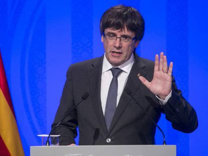 Carles Puigdemont speaks the day after the referendum.