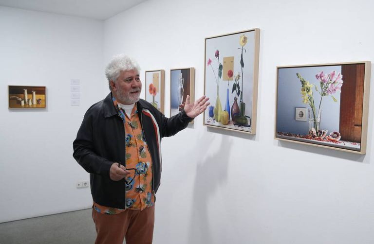 Pedro Almodóvar shows his work at the Marlborough gallery in Madrid.