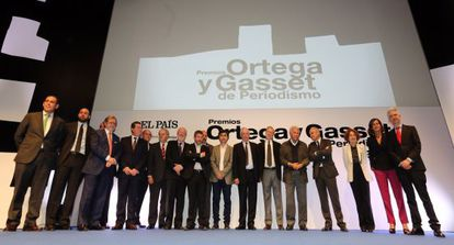 The Ortega y Gasset Awards for Journalism ceremony on Wednesday.