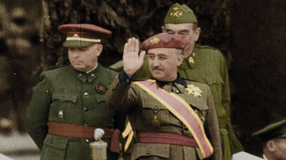 A colorized image of Franco from the documentary.