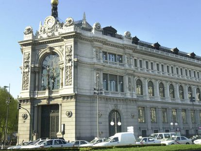 The Bank of Spain's headquarters in Madrid.