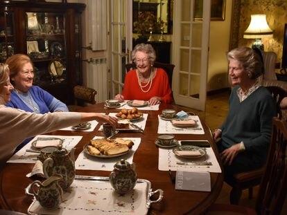 Members of the British Ladies Association (l-r) Annie Roda, Alicia Arias, Sheila Stuart and Sarah Hambleton.