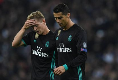 Toni Kroos and Cristiano Ronaldo in Wembley, where Madrid lost 3-1 against Tottenham.