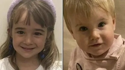 (l-r) Olivia, aged six, and one-year-old Anna.