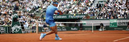 Nadal during a Roland Garros match this year.