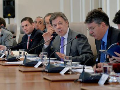 Santos presides over a Cabinet meeting in Monday.