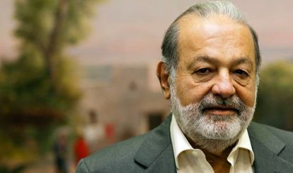 Carlos Slim, the wealthiest person alive since 2010, pictured during the interview.