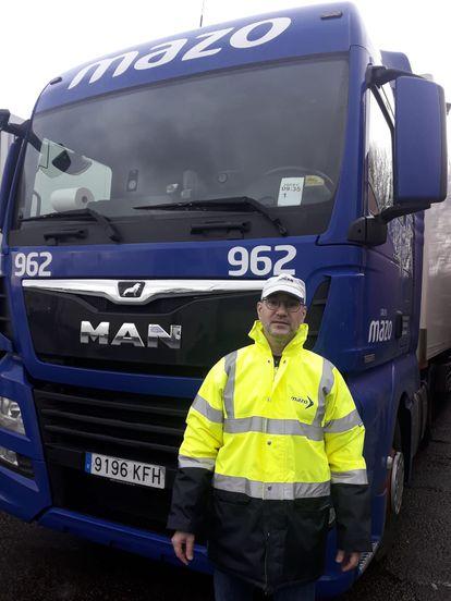 Truck driver Javier Ferrando is trapped in the United Kingdom due to coronavirus border closures.
