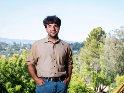 Karl Deisseroth pictured on the Stanford campus on July 13.