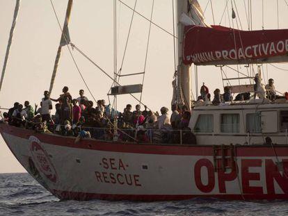 'Open Arms' rescue ship.