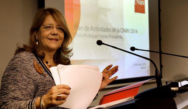 CNMV president Elvira Rodríguez.