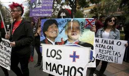 A demonstration against sexism in La Paz.