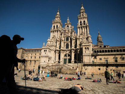 The old town in Santiago de Compostela, a UNESCO World Heritage Site.