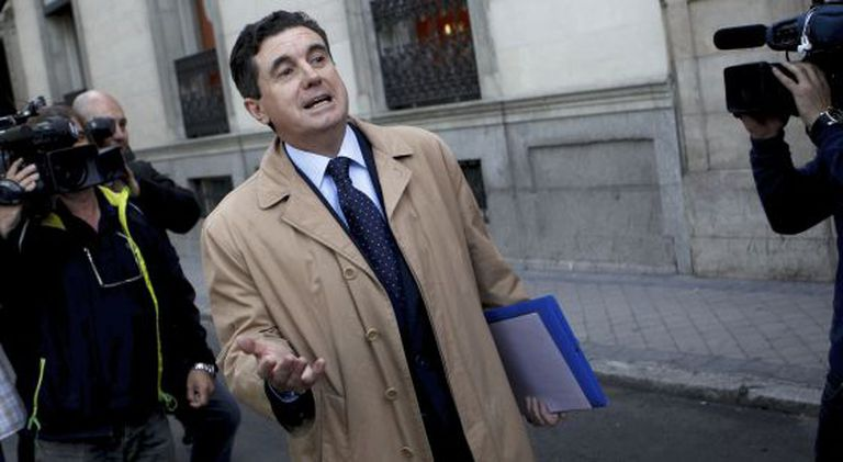 Former Balearics regional premier Jaume Matas walks out of the High Court in May 2013.