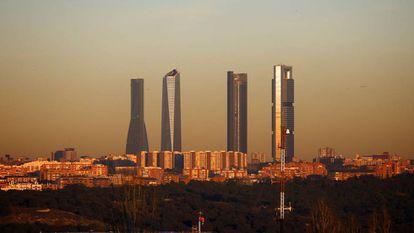 Ortega is the owner of Madrid's Torre Cepsa skyscraper (right).