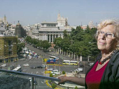 Madrid Mayor Manuela Carmena at City Hall.