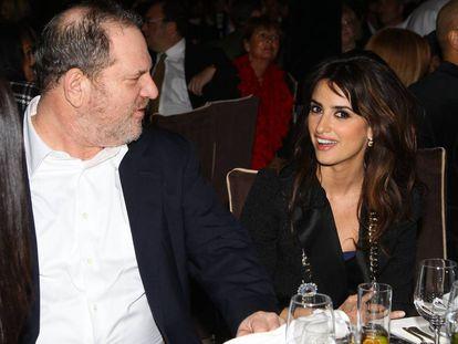 Harvey Weinstein and Penélope Cruz, pictured in New York in 2008.