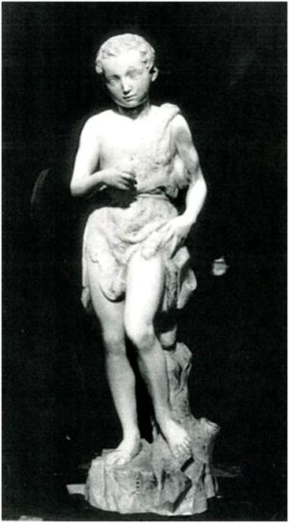 Young St John, attributed to Michelangelo, before 1938.