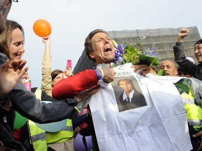 Lennart Cromstedt arriving in Puerta del Sol last weekend.