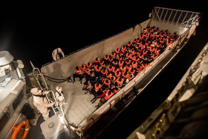The immigrants rescued by the Aquarius will be taken to Valencia in Spain.