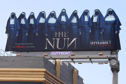 A poster for 'The Nun' on display in Los Ageles.