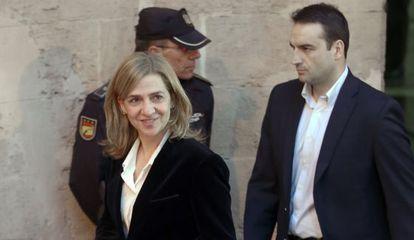 Infanta Cristina at the Palma de Mallorca court on February 20.