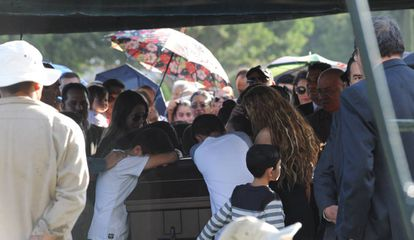 The funeral last month of murdered judge Vicente Bermúdez.
