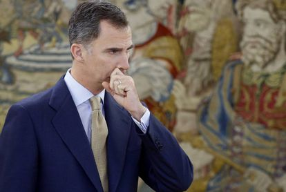 Spanish King Felipe VI on Tuesday, during his second day of meetings with political leaders.