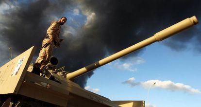 A Libyan soldier in Benghazi in December.