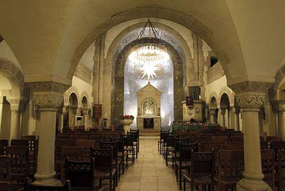 The interior of the German Evangelical Church on Madrid's Paseo de la Castellana.